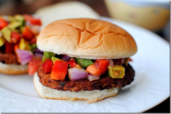 Black Bean Burgers with Simple Avocado Relish