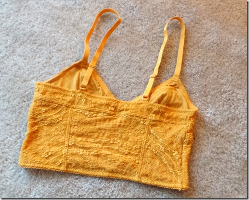 Free People bra yellow