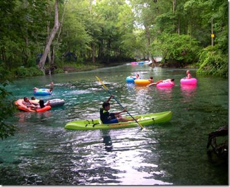 Ginnie Springs Tubing Santa Fe River