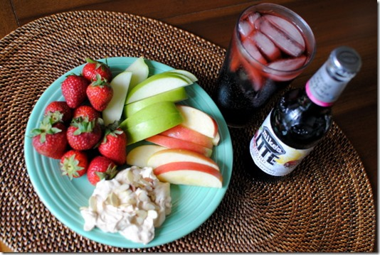 Honey Almond Butter Fruit Dip