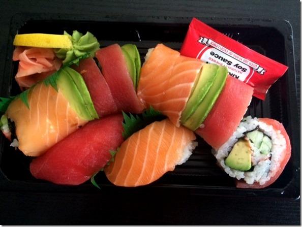 Rainbow Roll Sushi