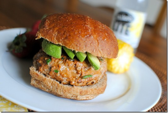 Southwest Turkey Burger with Avocado