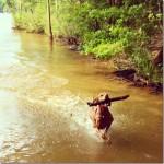 Vizsla Lake Dog
