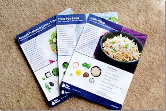 Blue Apron Recipe Cards
