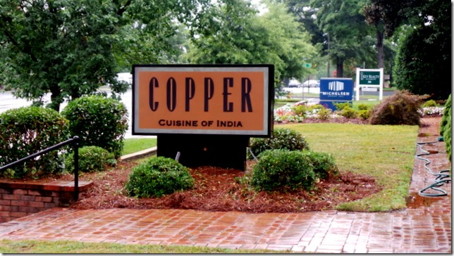 Copper Indian Restauran Charlotte