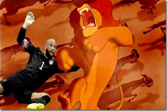 Tim Howard Saving Mufasa