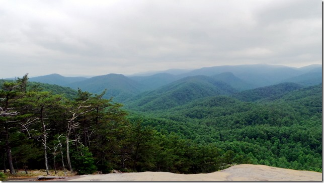 View from the summit of Stone Mountain
