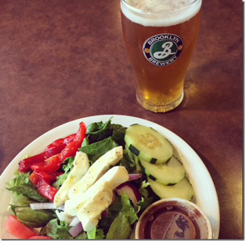 Beer and Salad