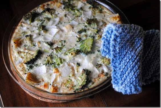 Broccoli Artichoke Quiche