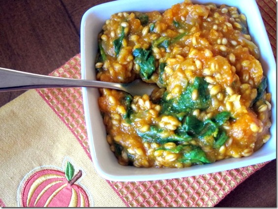 Butternut Squash Wheat Berry Mock Risotto