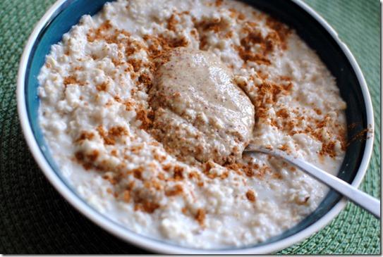 almond butter oatmeal