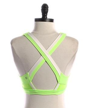 lululemon sports bra lime green
