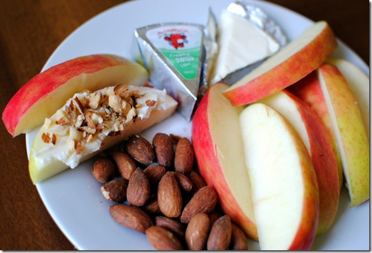 Apples Cheese Almonds