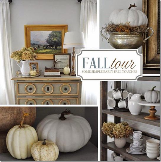 Classic Fall Decorations (white pumpkins, etc.)
