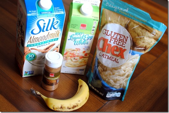 Egg White Oatmeal Ingredients