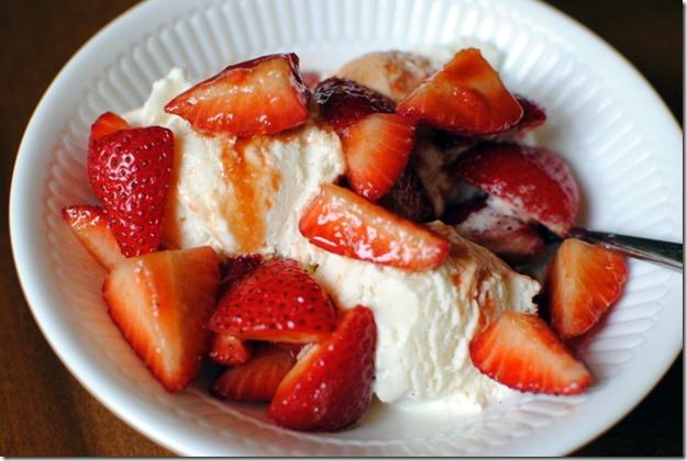 Ice Cream with Balsamic Strawberries