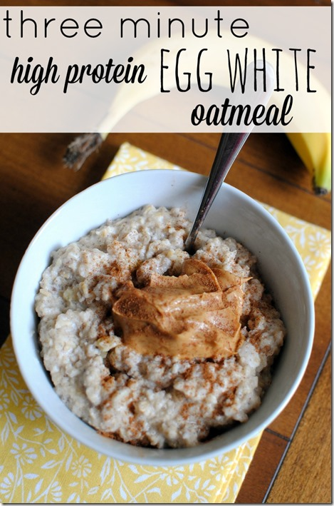 Three minute egg white oatmeal recipe three minute high protein egg white oatmeal recipe forumfinder Images