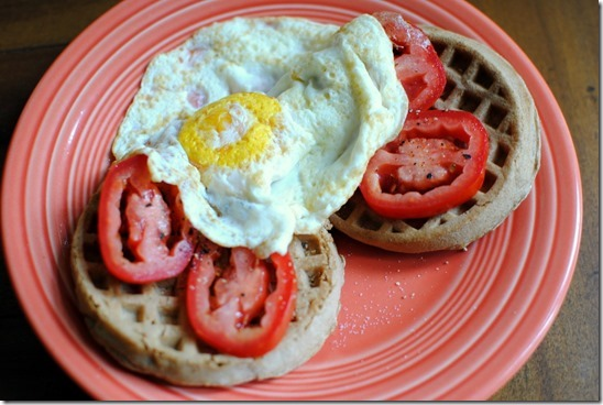 waffle with egg