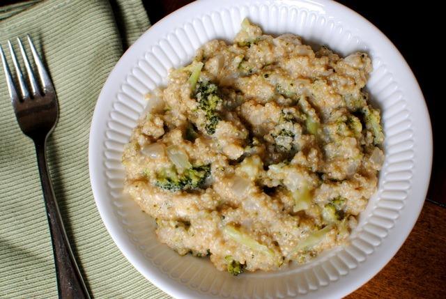 Cheesy Broccoli Quinoa - Peanut Butter Fingers