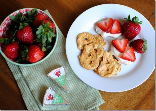 Laughing Cow Cheese with Strawberries