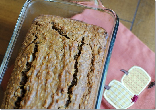 Maple Walnut Pumpkin Bread