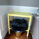 Yellow Cart as a Printer Stand
