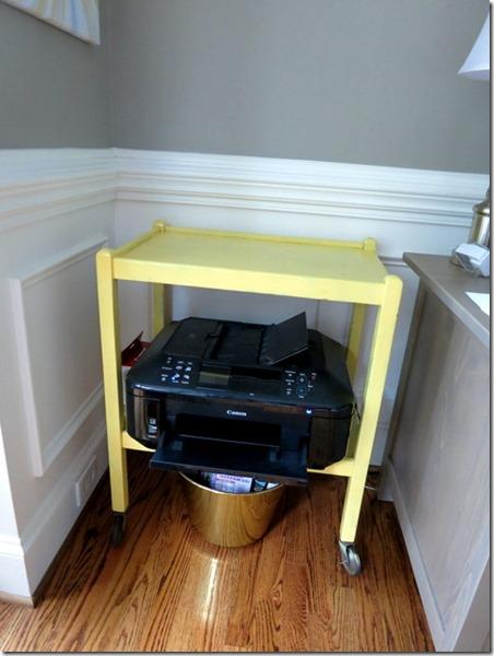 yellow cart as a printer stand - Printer Cart