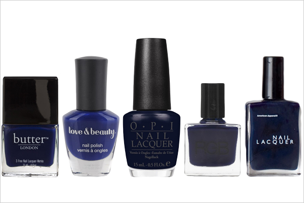 navy blue nail polish - Peanut Butter Fingers