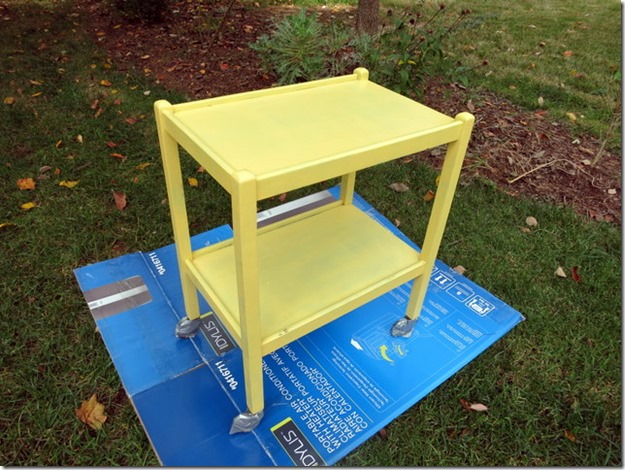 spraypainting cart