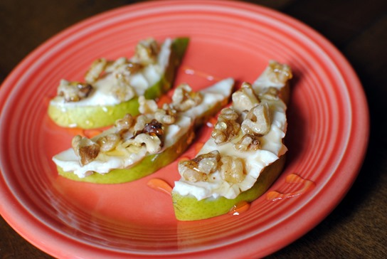 Honey Pear Walnuts and The Laughing Cow Cheese