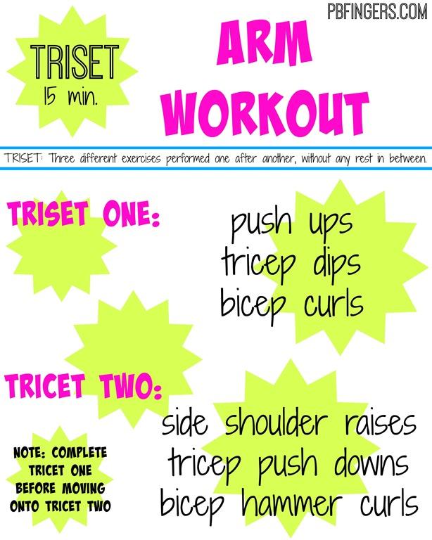 Triset Arm Workout Peanut Er Fingers