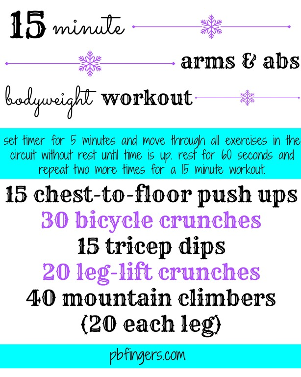 15 Minute Arms And Abs Workout
