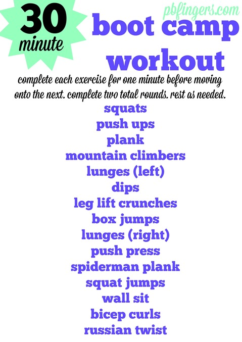 30 Minute Boot Camp Workout