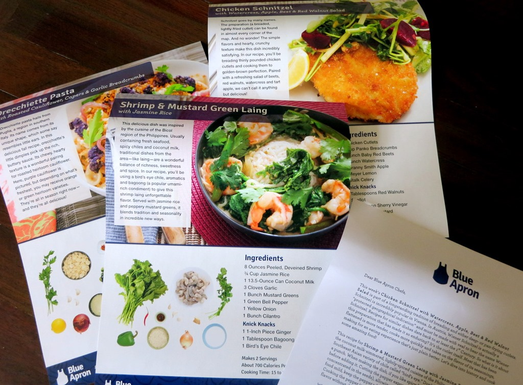 Blue apron giveaway peanut butter fingers blue apron recipe cards forumfinder Gallery