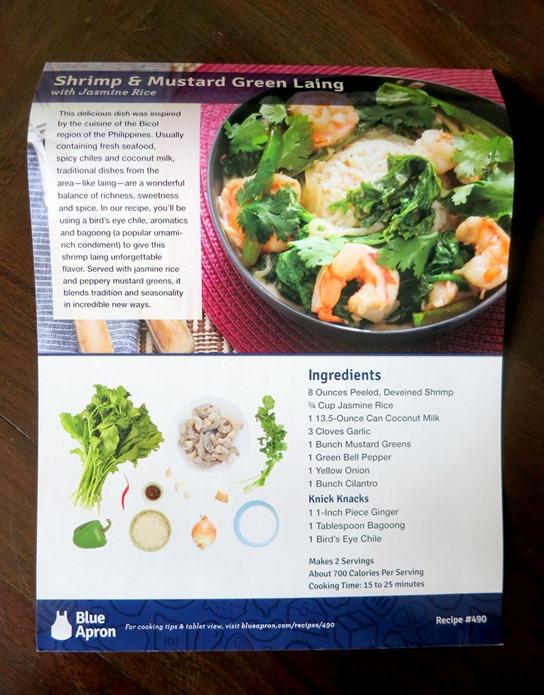 Blue Apron Shrimp Coconut Milk Recipe