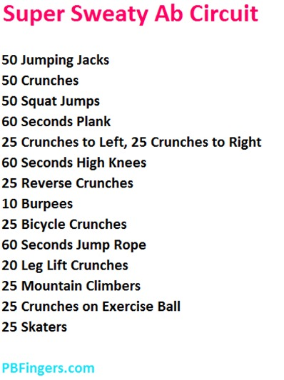 Super Sweaty Ab Circuit Workout
