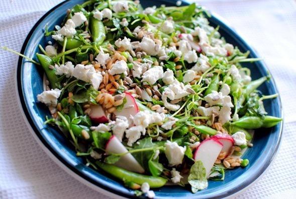 three pea salad