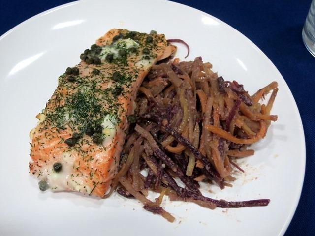 Salmon-with-Sweet-Potato-Noodles