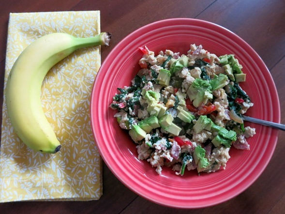 egg and veggie scramble