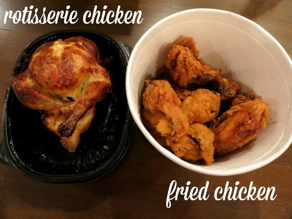rotisserie chicken vs fried chicken