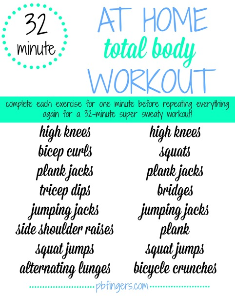 32 Minute At Home Workout