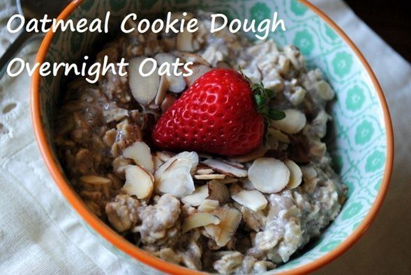Oatmeal Cookie Dough Overnight Oats