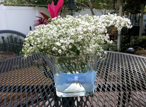 baby's breath flowers for baby shower