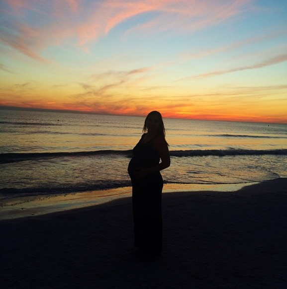 sunset baby bump
