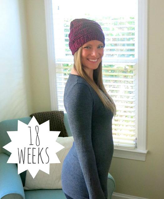 18 weeks pregnant bump pic