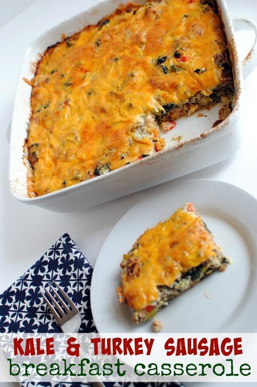 Kale and Turkey Sausage Breakfast Casserole Recipe