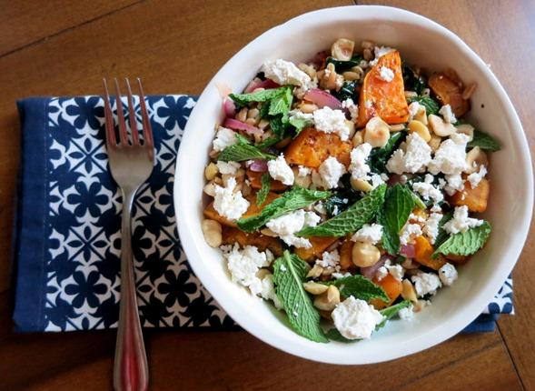 Sweet Potato Salad with Mint