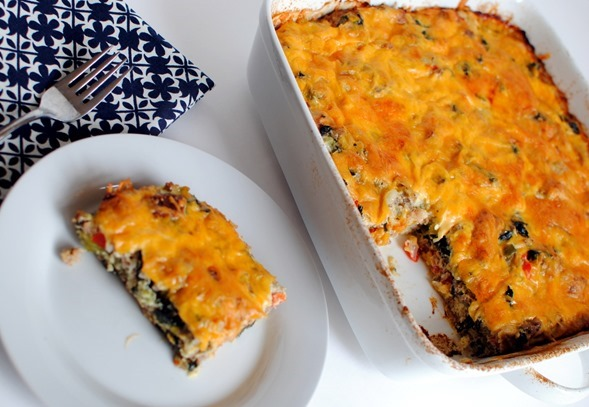 Turkey Sausage and Kale Breakfast Casserole