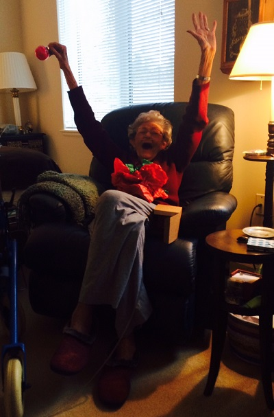 excited grandma