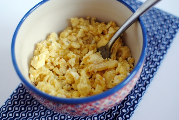 scrambled eggs with laughing cow cheese